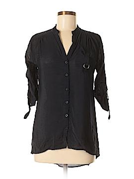 Antilia Femme 3/4 Sleeve Button-Down Shirt Size M