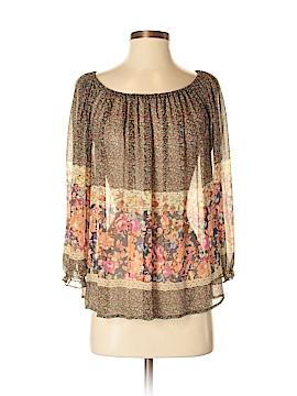 Fei 3/4 Sleeve Silk Top Size S