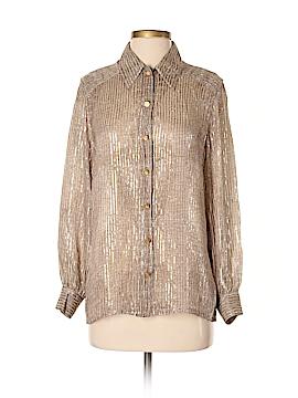 Escada by Margaretha Ley Long Sleeve Silk Top Size 38 (IT)
