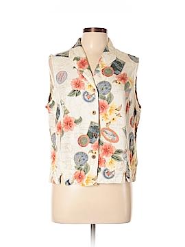 Caribbean Joe Sleeveless Button-Down Shirt Size XL