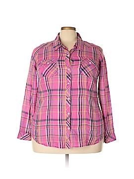 Torrid Long Sleeve Button-Down Shirt Size 2X Plus (2) (Plus)