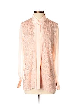Robert Graham Long Sleeve Silk Top Size S