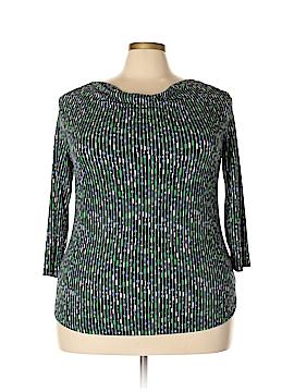 Liz Claiborne 3/4 Sleeve Top Size 1X (Plus)