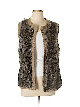 Ann Taylor Faux Fur Vest Size L