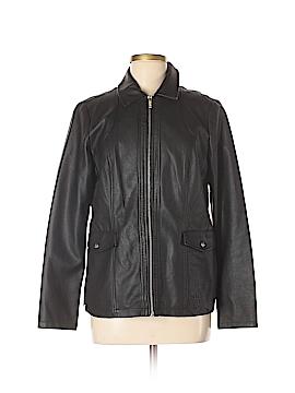 Dennis by Dennis Basso Faux Leather Jacket Size M