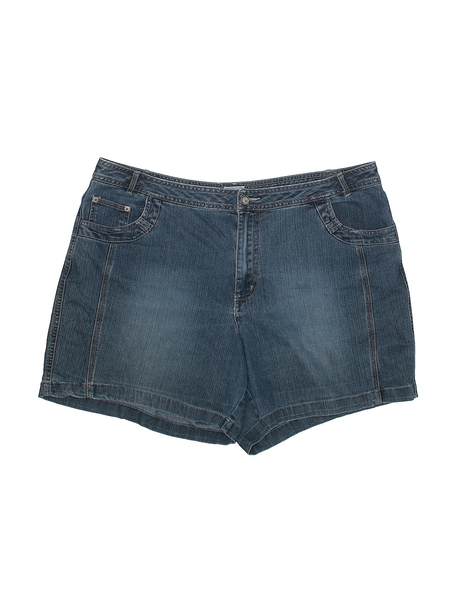 6b54095d35f Just My Size Solid Blue Denim Shorts Size 18W Plus (Plus) - 66% off ...