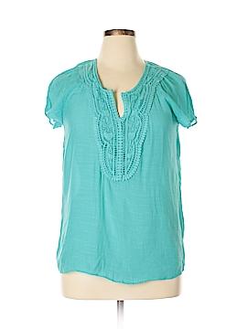 Melissa Paige Short Sleeve Blouse Size L