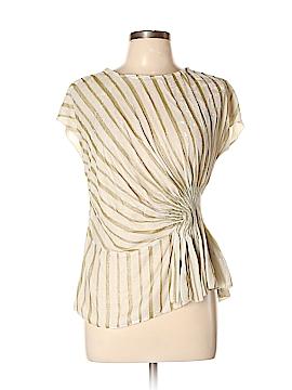 Aryn K. Short Sleeve Silk Top Size L