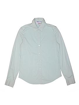 HOW & WEN Long Sleeve Button-Down Shirt Size M