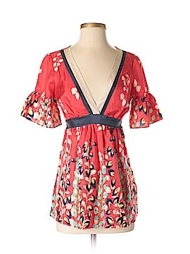 Hype Short Sleeve Silk Top Size XS