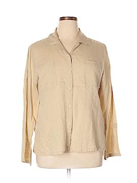 Casual Corner Long Sleeve Button-Down Shirt Size XL