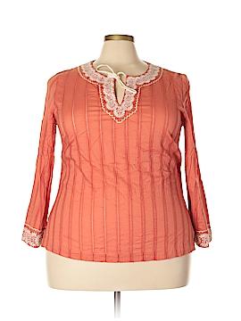 Sigrid Olsen Long Sleeve Blouse Size 1X (Plus)