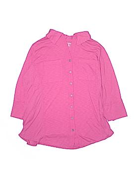 Great Northwest Indigo 3/4 Sleeve Button-Down Shirt Size 3X (Plus)