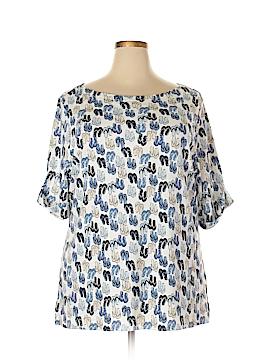 Karen Scott Short Sleeve Top Size 3X (Plus)