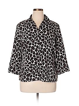 Elementz 3/4 Sleeve Button-Down Shirt Size XL