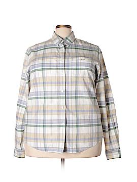 Rockies Long Sleeve Button-Down Shirt Size 3X (Plus)