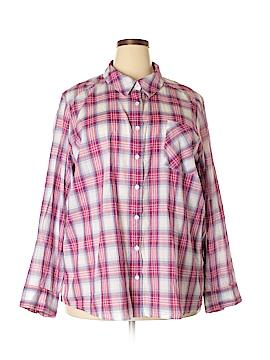 Joe Boxer Long Sleeve Button-Down Shirt Size 3X (Plus)