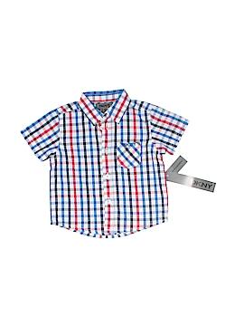DKNY Short Sleeve Button-Down Shirt Size 6-9 mo