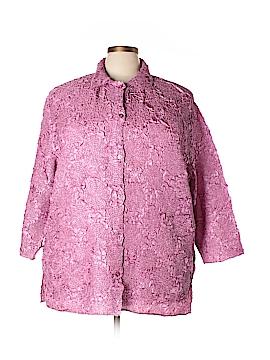 Pleats Collection 3/4 Sleeve Blouse Size 2XL (Plus)