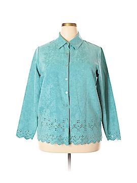 Relativity Long Sleeve Button-Down Shirt Size 1X (Plus)