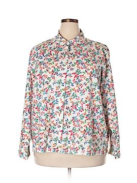 Serengeti Long Sleeve Button-Down Shirt Size 3X (Plus)