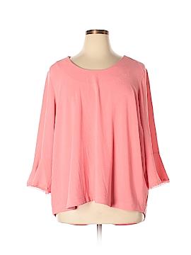 Melissa McCarthy Seven7 3/4 Sleeve Top Size 2X (Plus)