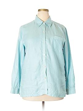 Sigrid Olsen Long Sleeve Button-Down Shirt Size XL