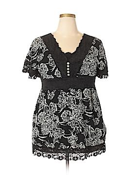 Style&Co Short Sleeve Blouse Size XL
