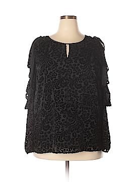 NANETTE Nanette Lepore 3/4 Sleeve Blouse Size 3X (Plus)