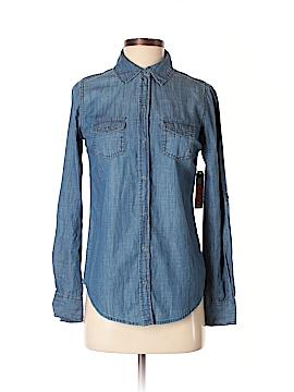 Arizona Jean Company Long Sleeve Button-Down Shirt Size XS