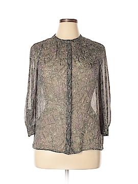Eliot Long Sleeve Silk Top Size L