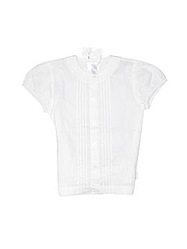 Carolina Zapf Short Sleeve Button-Down Shirt Size 8
