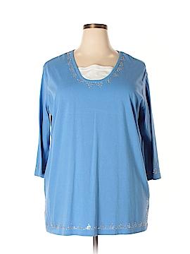 Sara Morgan for Haband 3/4 Sleeve Top Size 2X (Plus)