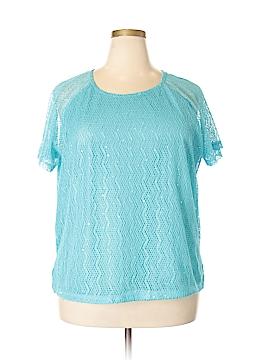 Cathy Daniels Short Sleeve Blouse Size 1X (Plus)