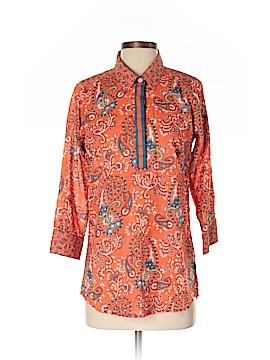 Gretchen Scott Designs 3/4 Sleeve Button-Down Shirt Size S
