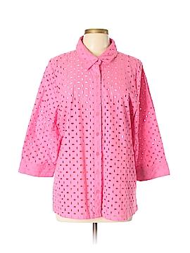 D&Co. 3/4 Sleeve Button-Down Shirt Size XL
