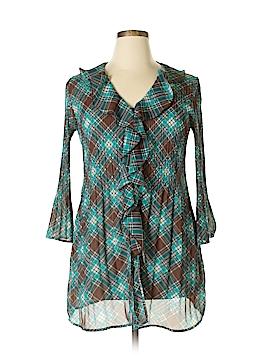 Sunny Leigh 3/4 Sleeve Blouse Size L