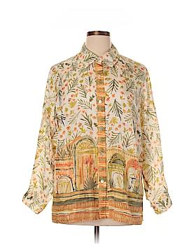 Sigrid Olsen Long Sleeve Silk Top Size 1X (Plus)