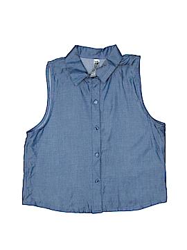 Beautees Sleeveless Button-Down Shirt Size 12