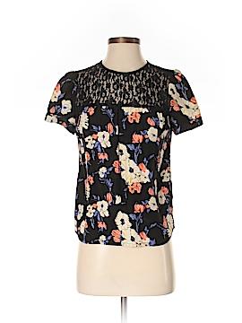 Sunner Short Sleeve Silk Top Size S
