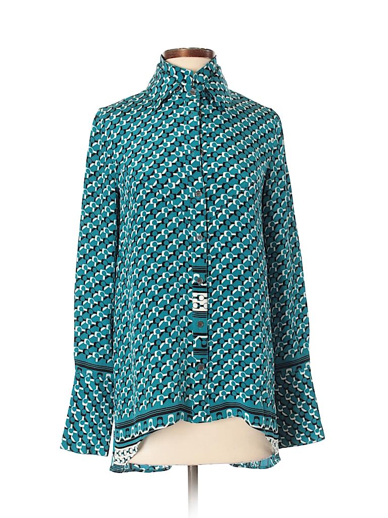 d4728a91c693b Pin it Pin It Button 10 Crosby Derek Lam Women Long Sleeve Silk Top Size 2