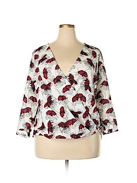 Alfani Long Sleeve Blouse Size 14 (Plus)