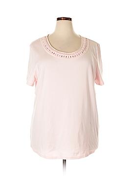 Karen Scott Short Sleeve Blouse Size 3X (Plus)