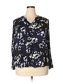 Simply Vera Vera Wang Long Sleeve Blouse Size 1X (Plus)