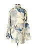 Citron Women Long Sleeve Silk Top Size S