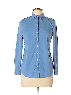 Ann Taylor Long Sleeve Button-Down Shirt Size 8 (Petite)