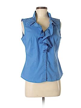 Worthington Sleeveless Button-Down Shirt Size M
