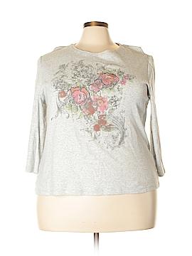 Nicole Miller 3/4 Sleeve T-Shirt Size 2X (Plus)