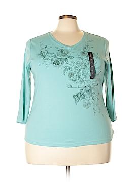 Nicole Miller 3/4 Sleeve T-Shirt Size 1X (Plus)