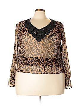 Jones New York 3/4 Sleeve Blouse Size 1X (Plus)